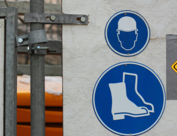 Mesures de sécurité sur un chantier