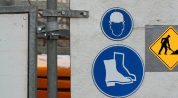 Safety measures on a construction site